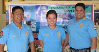 police officers in Dumaguete