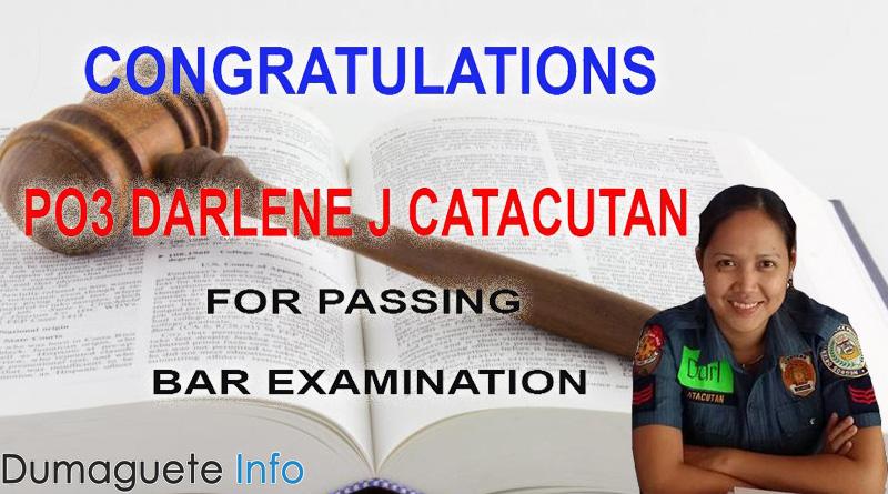 Darlene J Catacutan passed Bar Exam