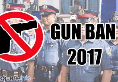 Gun Ban 2017 Starts October 1