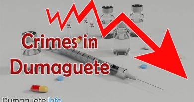 Crimes in Dumaguete Declining