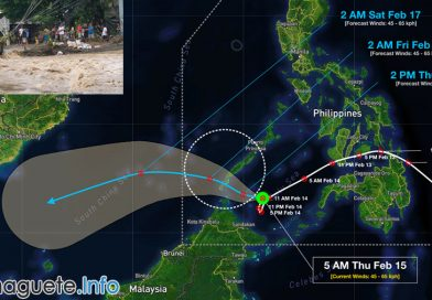 Tropical Depression Sanda Leaving the Philippines