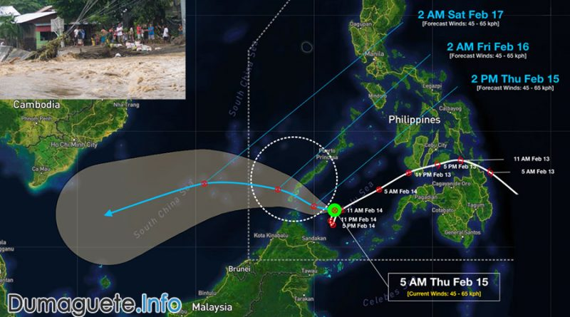 Tropical Depression Sanda Leaving the Philippines