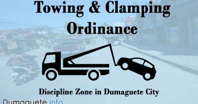 Towing & Clamping Ordinance for City Discipline Zone