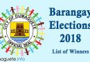 Barangay Elections 2018 - Success! -List of Winners