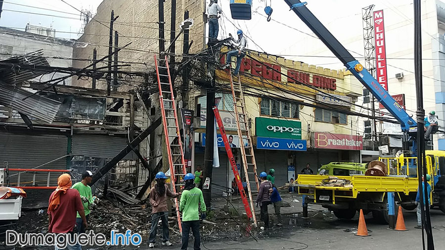 Buildings in Dumaguete Destroyed by Fire
