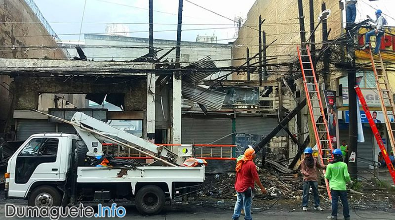 Commercial Buildings in Dumaguete Destroyed by Fire