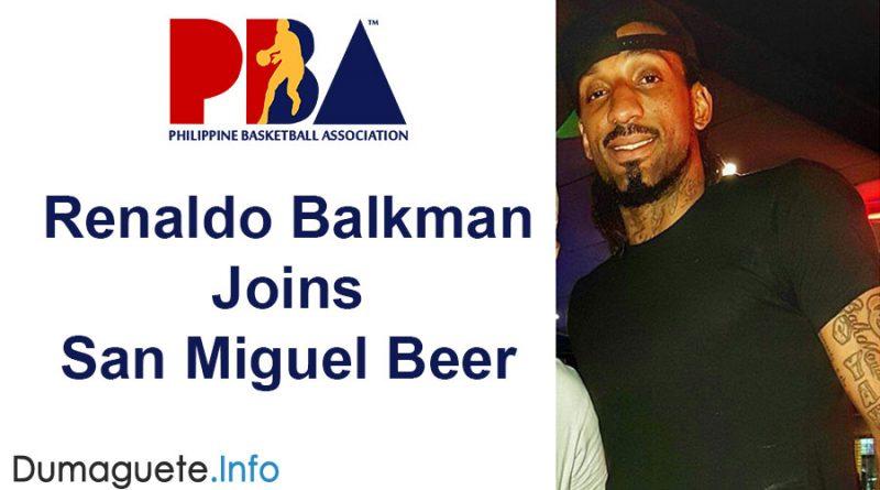 Renaldo Balkman Joins San Miguel Beer