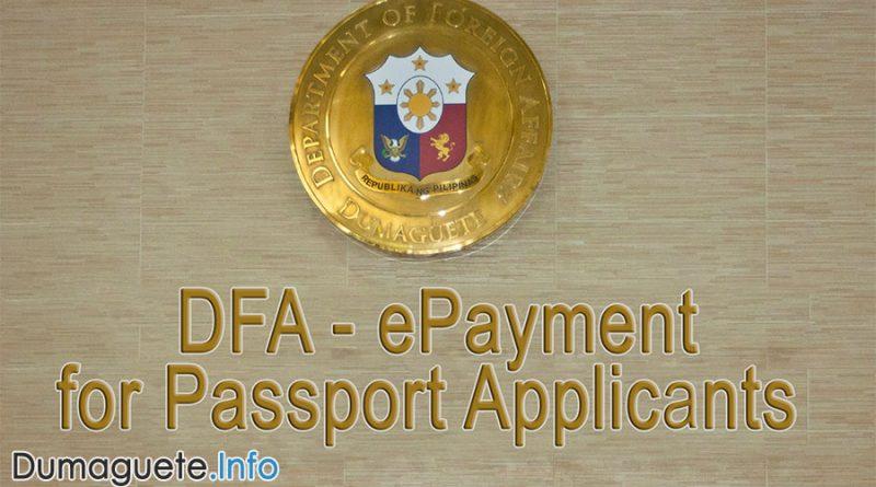 ePayment for DFA Passport Applicants
