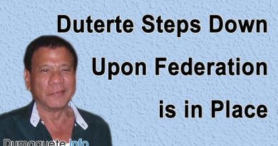 Duterte Steps Down Upon Federation is in Place