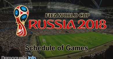 FIFA World Cup 2018 - Schedule