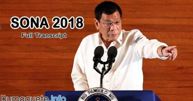 Full Transcript SONA 2018 - Duterte