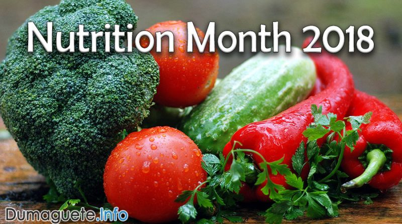 Nutrition Month 2018