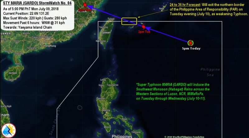 Typhoon Gardo - Update - Strikes North of Luzon