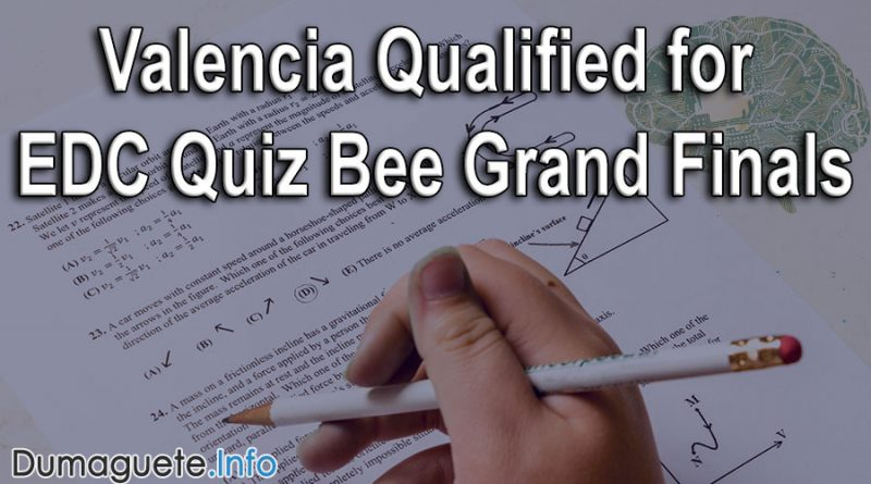 Valencia Qualified for EDC Quiz Bee Grand Finals