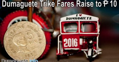 Dumaguete Trike Fares Raise to PHP 10