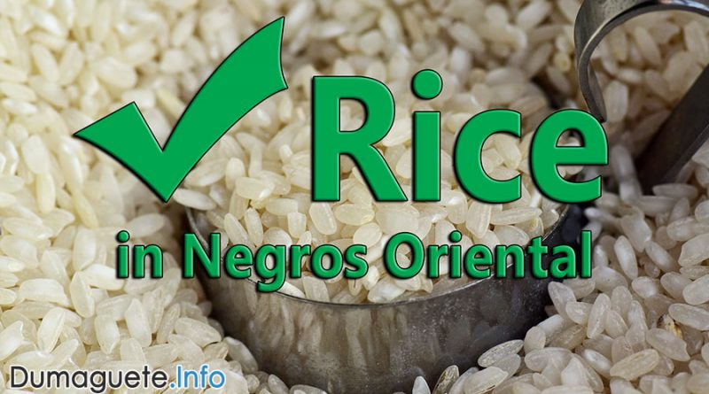 No shortage of rice in Negros Oriental