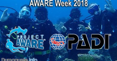 PADI Project AWARE Week 2018