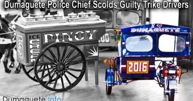 Dumaguete Police Chief Scolds Guilty Trike Drivers