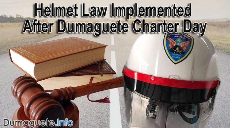 Helmet Law Implemented After Dumaguete Charter Day