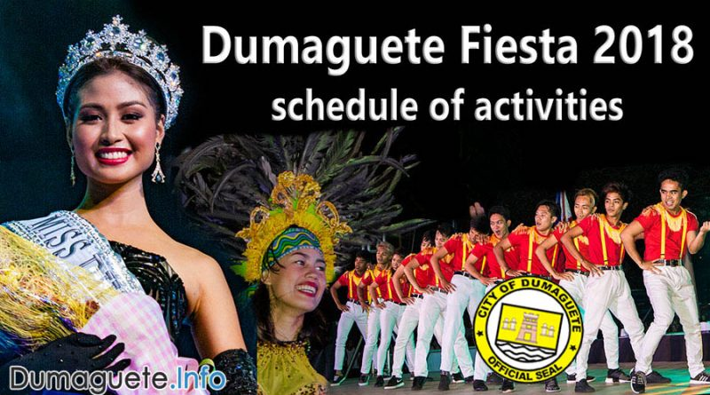 Dumaguete Fiesta 2018 – Schedule