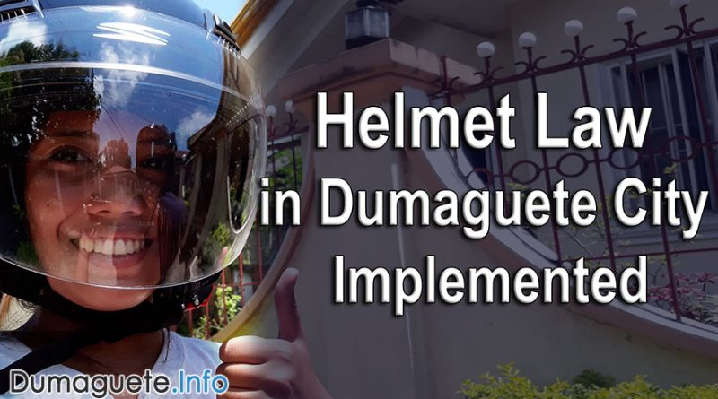 Helmet Law in Dumaguete Implemented