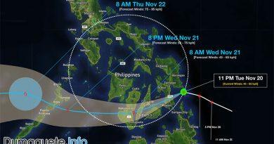 Tropical Depression Samuel Hits Eastern Samar