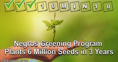 Negros Greening Program 10M in 10 Plants 6 Million Seeds in 3 Years