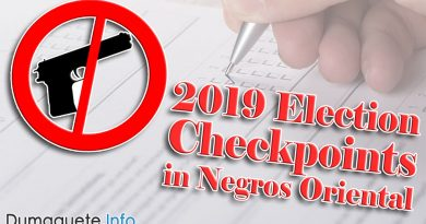 2019 Election Checkpoints in Negros Oriental