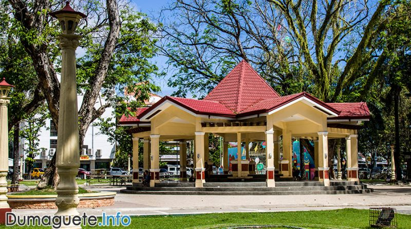Dumaguete Quezon Park and its Bricks of Old Glory