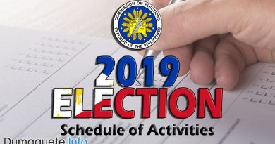 National and Local 2019 Election – Schedule of Activities
