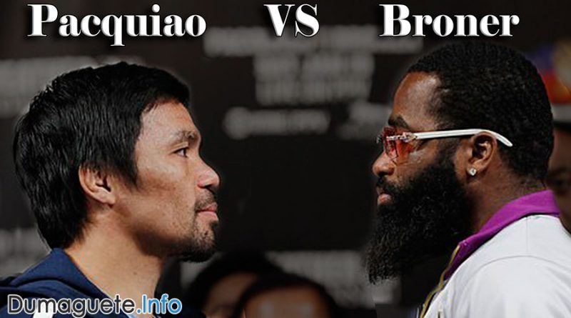 Pacquiao VS Broner – Sunday Fight