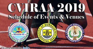 CVIRAA 2019 - Schedule of Events