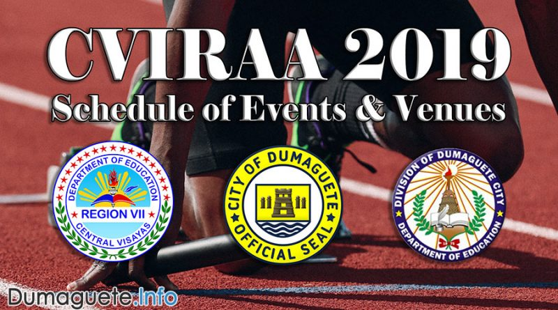 CVIRAA 2019 - Schedule of Events
