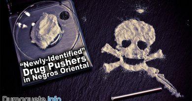 """Newly-Identified"" Drug Pushers in Negros Oriental"