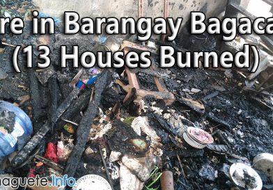 Fire in Barangay Bagacay - 13 Houses Burned