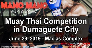 Muay Thai Competition in Dumaguete City 2019 - Mano Mano Fight to Unite