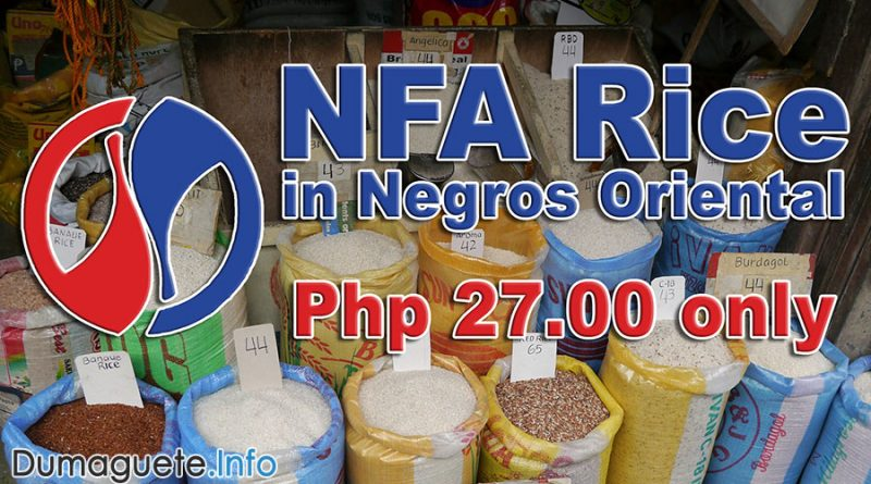 NFA Rice in Negros Oriental for Php 27 only