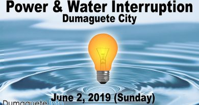 Power & Water Interruption in Dumaguete Barangays (June 2)