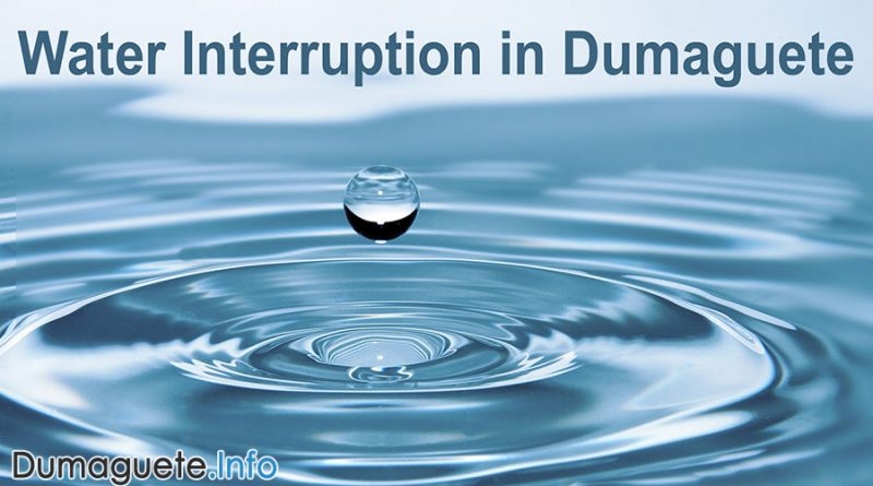 Water Interruption in Dumaguete City