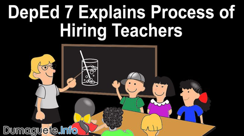 DepEd 7 Explains Process of Hiring Teachers After Complains