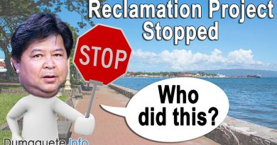 Dumaguete Boulevard's Reclamation Project Stopped
