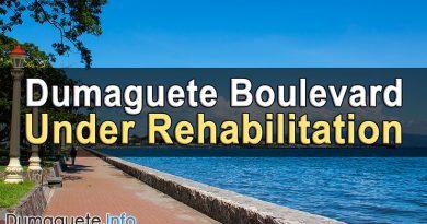 Dumaguete Boulevard Under Rehabilitation