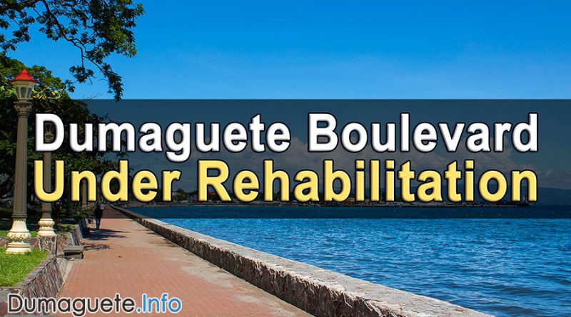 Dumaguete Boulevard Under Rehabilitation