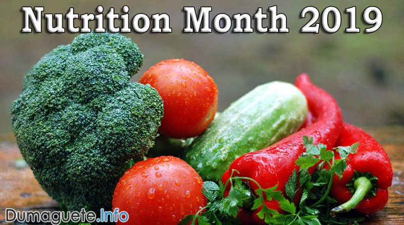 Nutrition Month 2019 in the Philippines