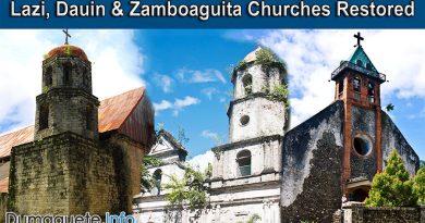 Lazi, Dauin & Zamboaguita Churches Restored with Government Funds