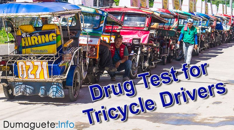 Drug Test for Tricycle Drivers in Dumaguete City