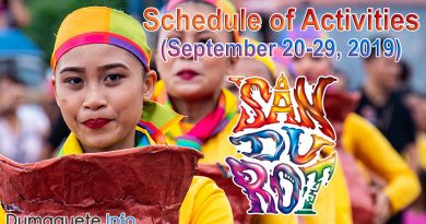 Sandurot Festival 2019 Schedule of Activities - Dumaguete City