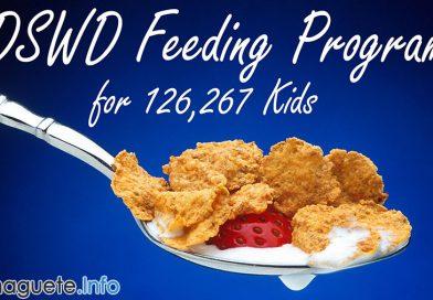DSWD Feeding Program for 126,267 Kids