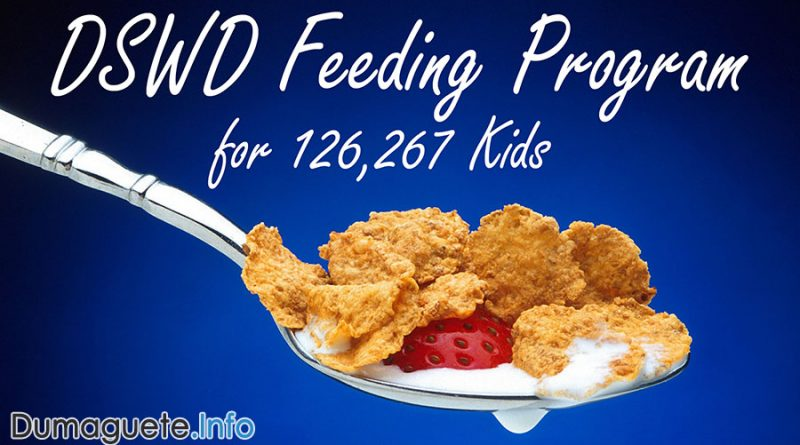 DSWD Feeding Program for 126,267 Kids