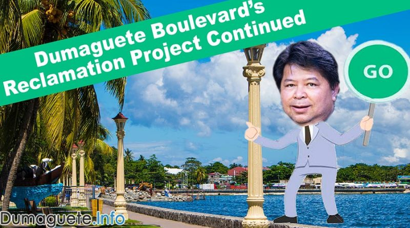 Dumaguete Boulevard's Reclamation Project Continued
